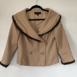 Vintage Isabel and Nina blazer with faux fur trim.
